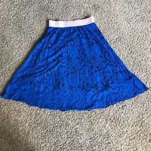 LuLaRoe Lace Lola Skirt